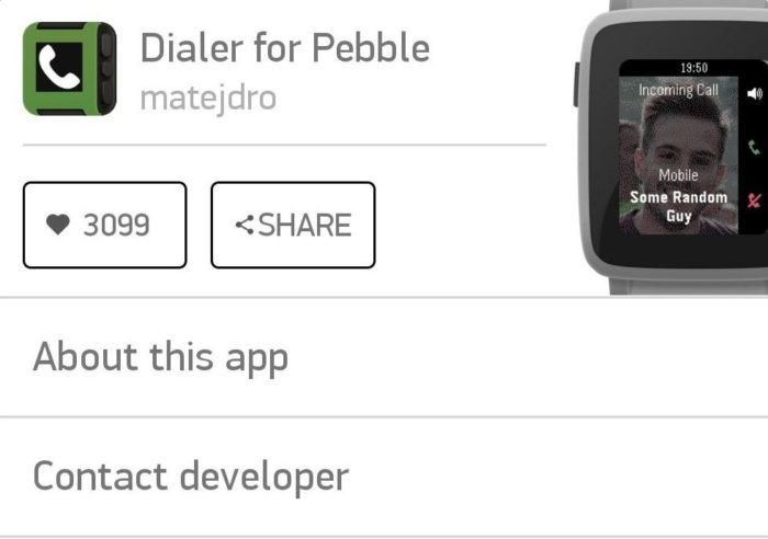Dialar for pebble