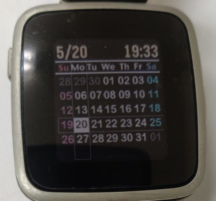 pebble big calender