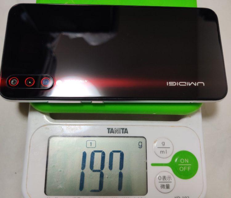 umidigi-x 重量197g