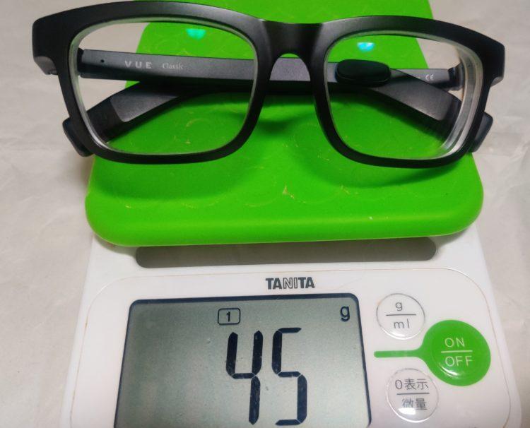 Vue smart glasses weight 45g