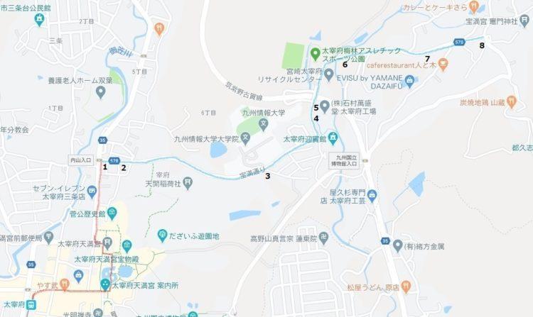 内山入り口~竈門神社 ルート