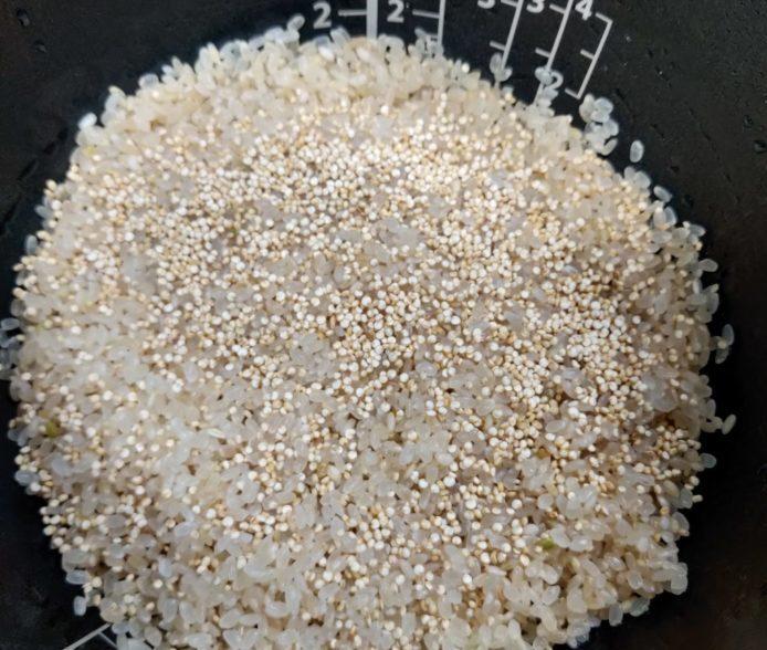 キヌア混ぜ白米 お米2合 キヌア大さじ1