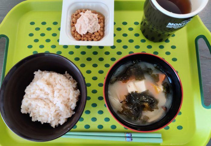 キヌア混ぜ白米 朝食