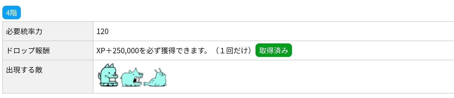 にゃんこ別塔(蒼)4階 敵編成