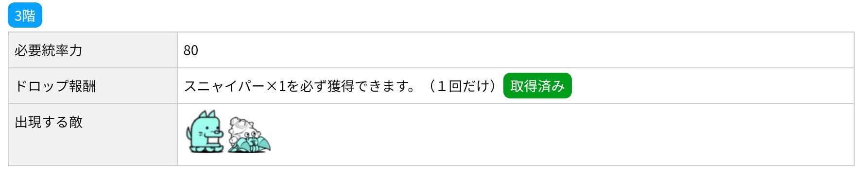 にゃんこ別塔(蒼)3階 敵編成
